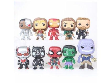 set mini figurek marvel dc comics 10 ks ii