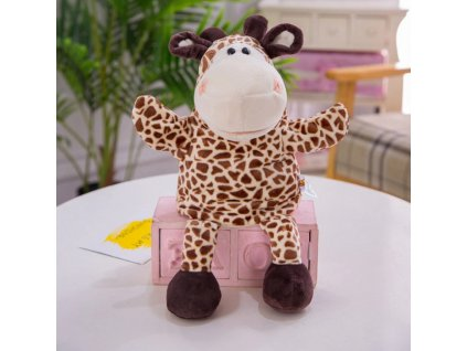 Plyšový maňásek na ruku - Žirafa