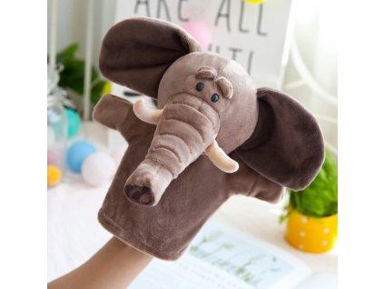 Plyšový maňásek na ruku - Slon