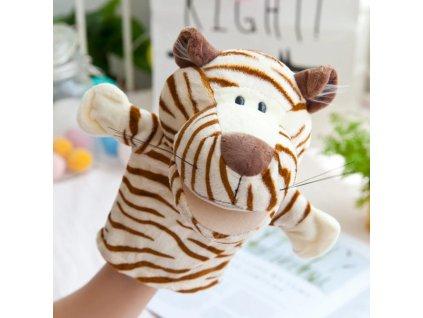 Plyšový maňásek na ruku - Tygr
