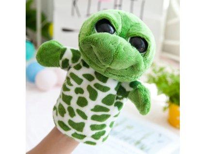 Plyšový maňásek na ruku - Želva