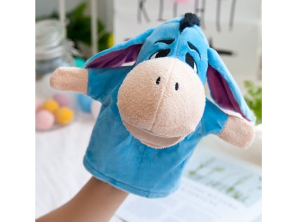 Plyšový maňásek na ruku - Oslík Donkey