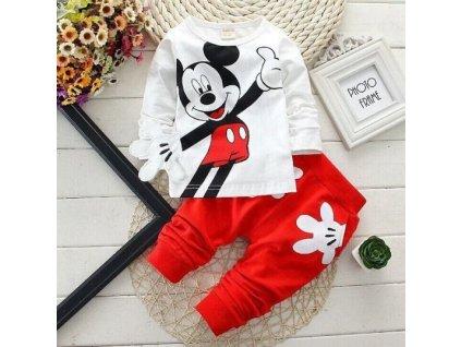 Dětská tepláková souprava - Mickey Mouse - červená