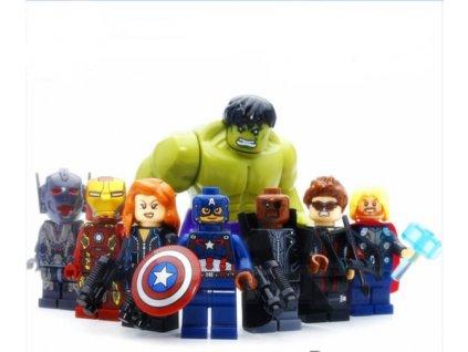 Figurky Marvel Superhrdinové a Hulk k Lego 8 ks