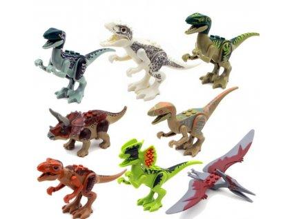 Figurky Jurský svět dinosauři k Lego 8 ks