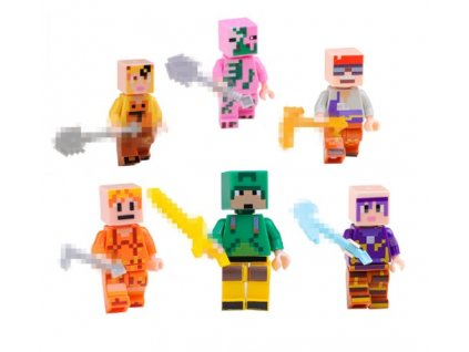 Figurky Minecraft k Lego 6 ks