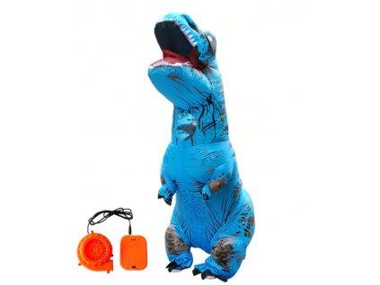Nafukovací kostým dinosaura - modrý