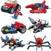 Figurky Spiderman a dopravní prostředky k Lego 6 ks