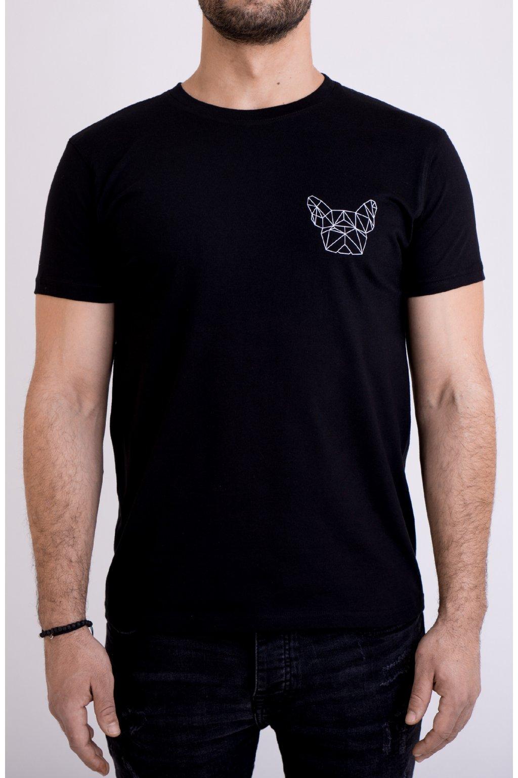 Pánské tričko černé GeoSmall
