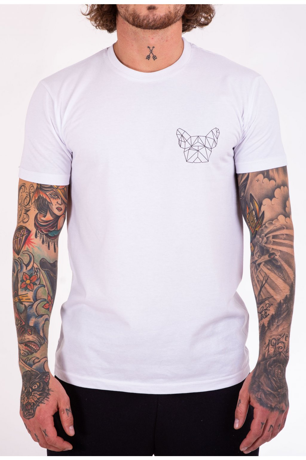 Pánské tričko bílé GeoSmall