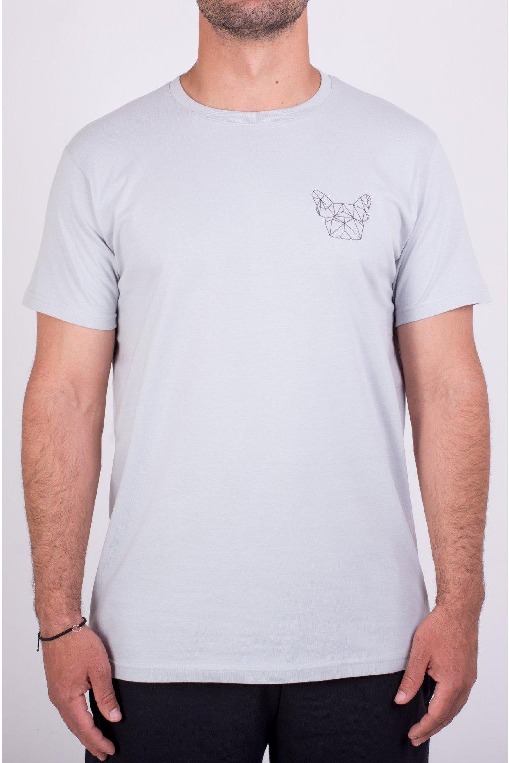 Pánské tričko šedé GeoSmall