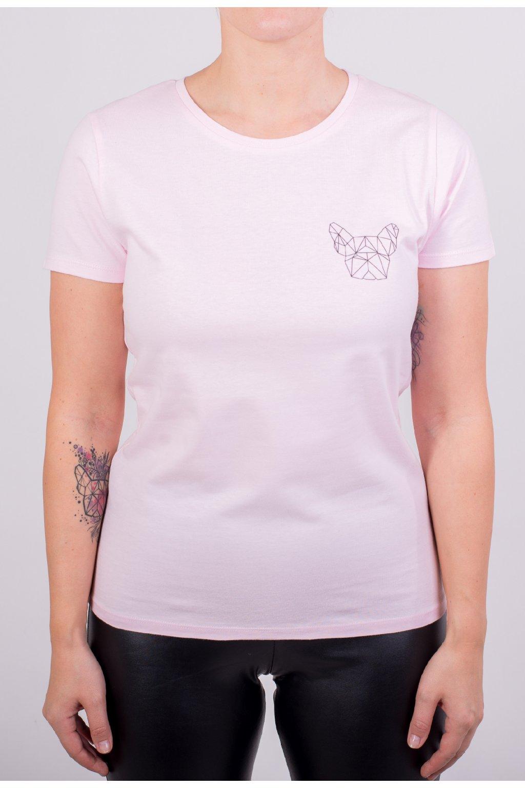 Dámské tričko GeoSmall růžové