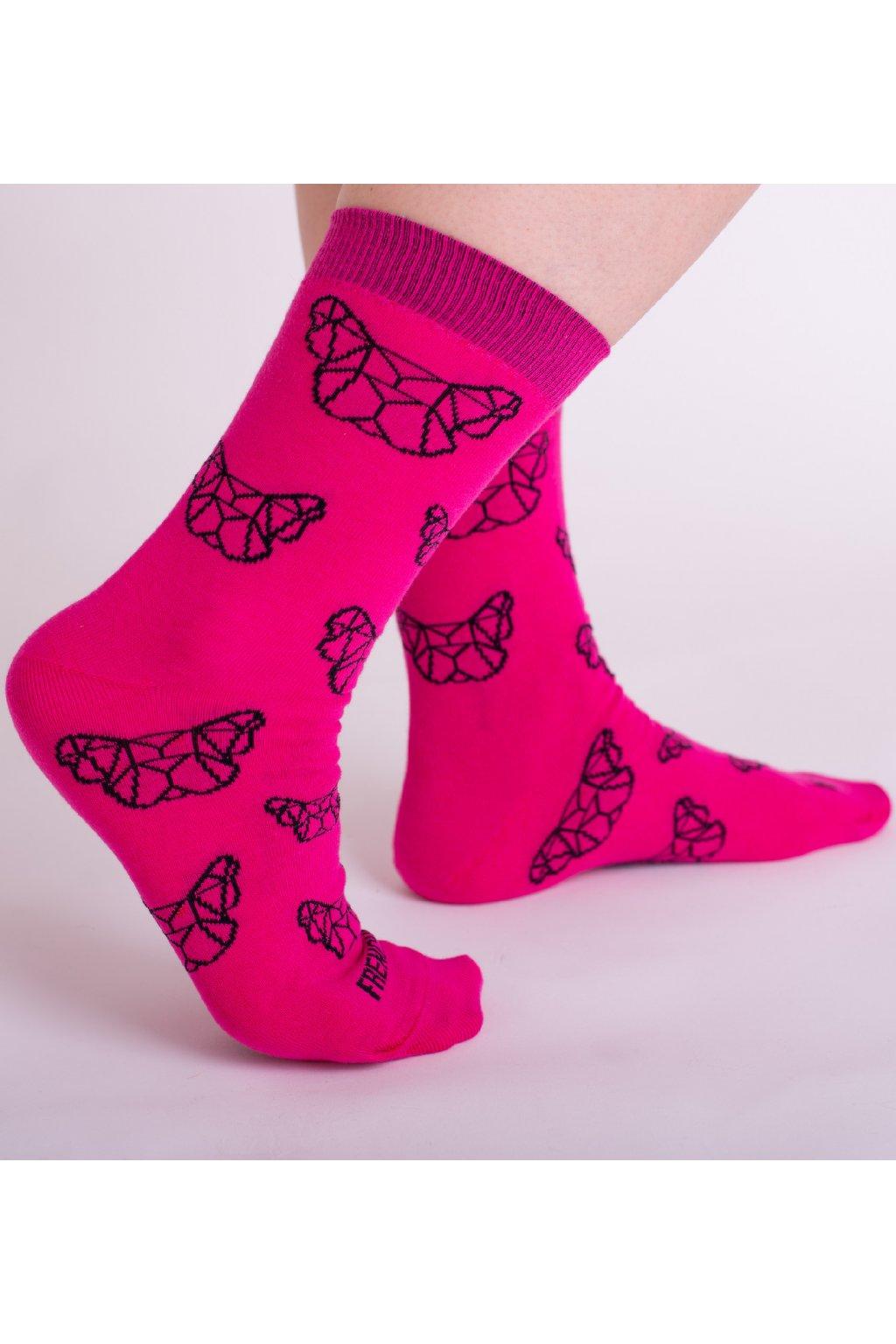 Růžové vysoké ponožky FRENCHI