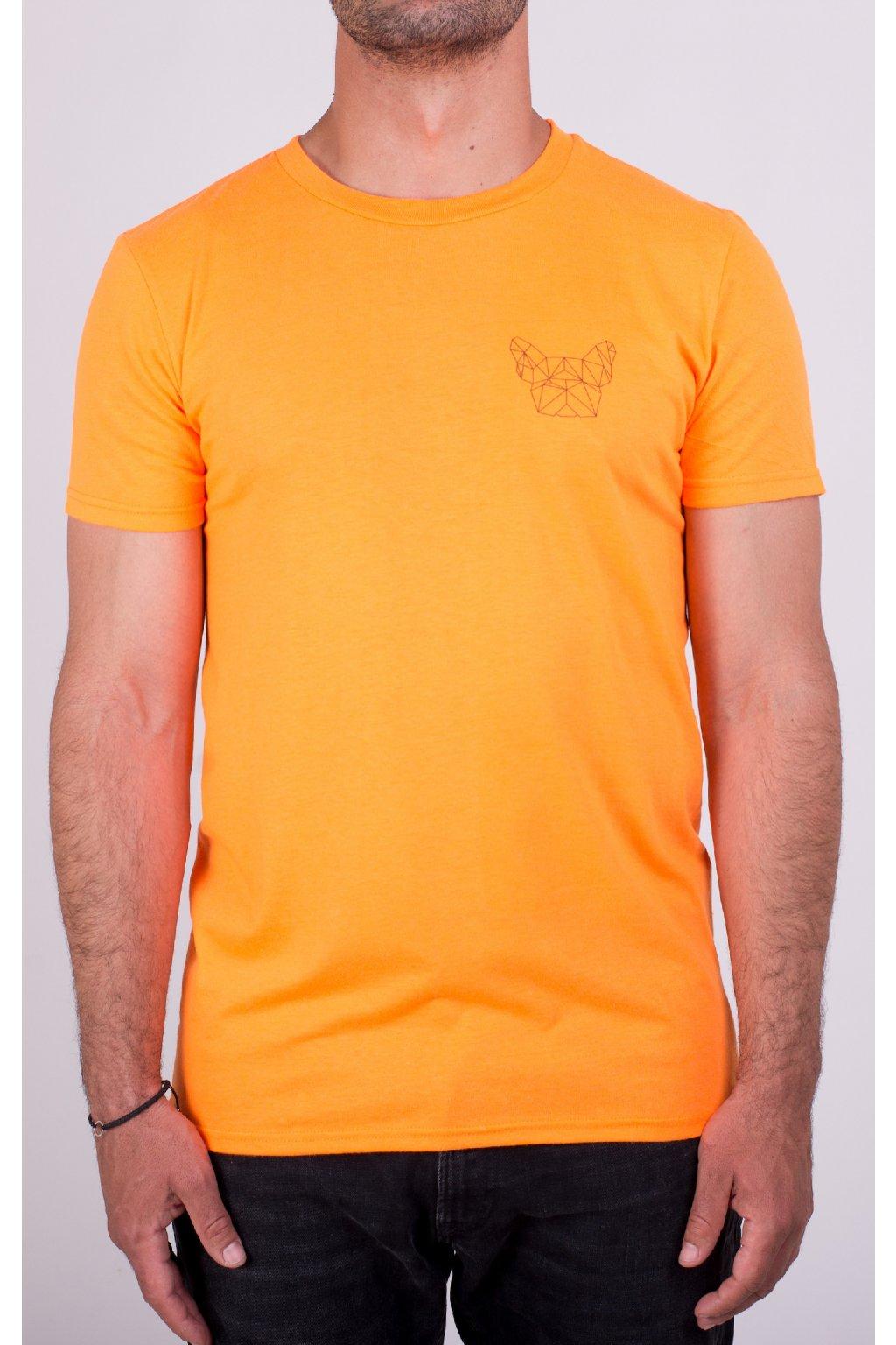 Pánské tričko neon orange