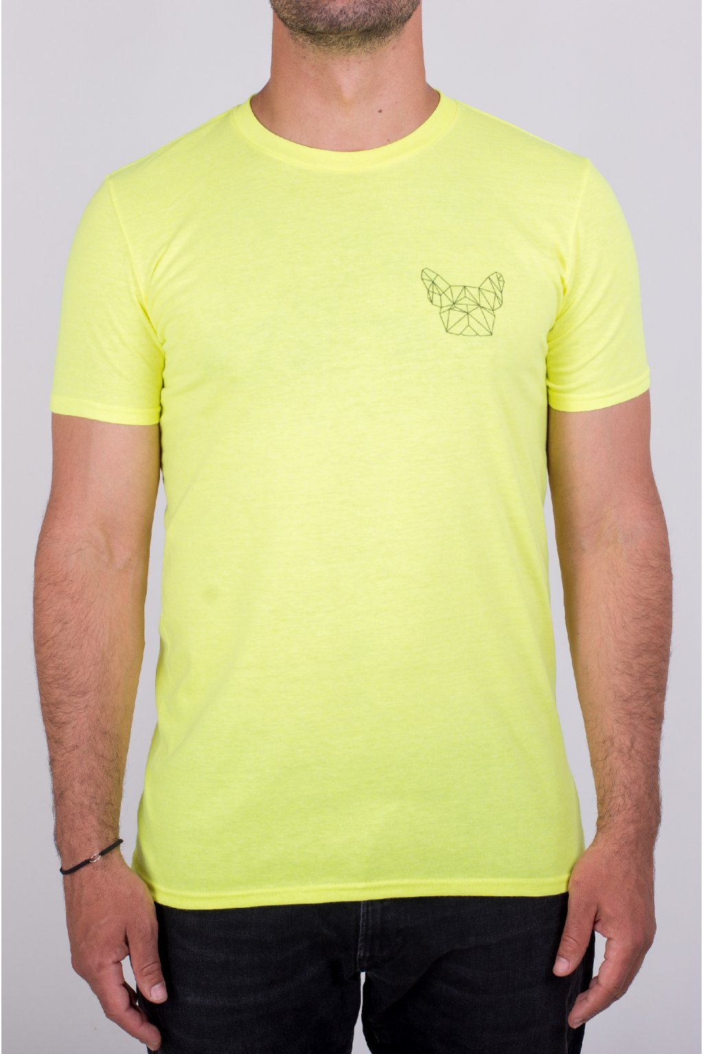 Pánské tričko neon yellow