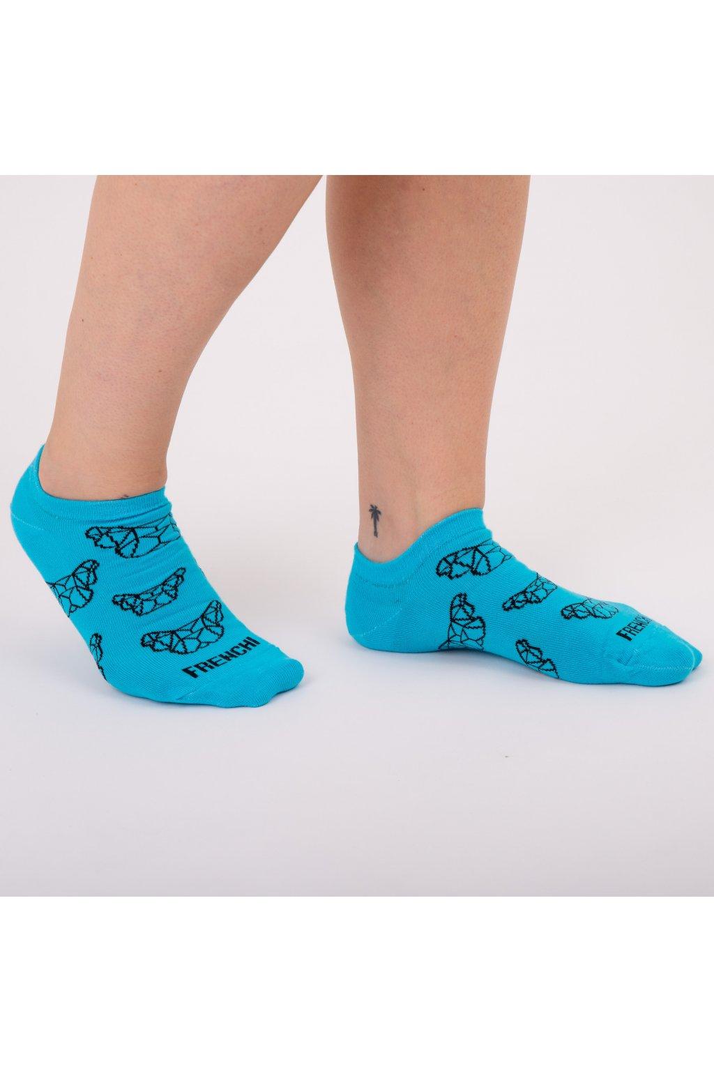 Tyrkysové kotníkové ponožky FRENCHI