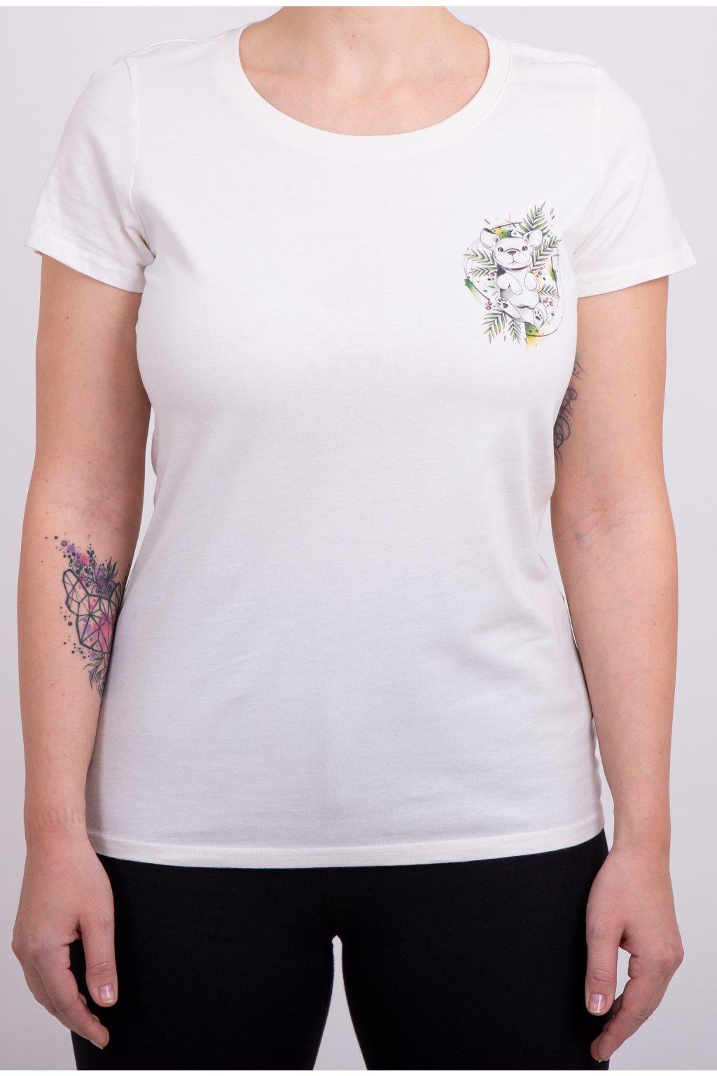Dámské tričko PUPPY Winter white