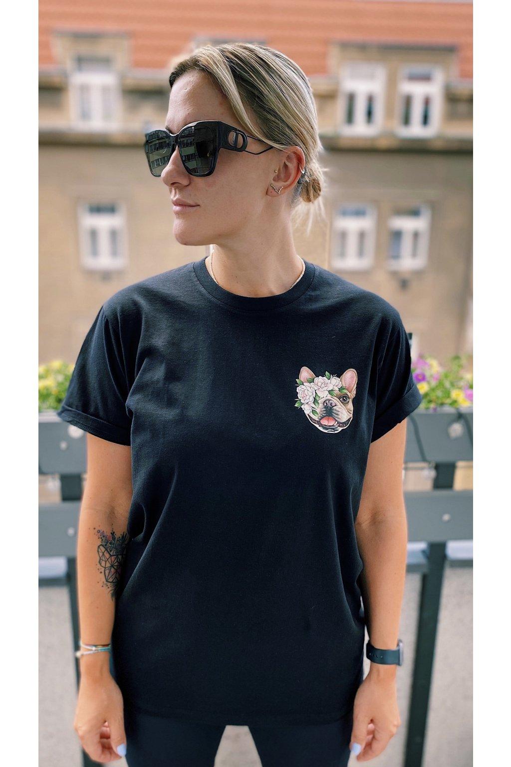 Unisex tričko PEONY černé