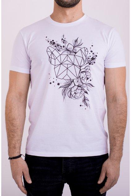 Unisex tričko JARO černobílé