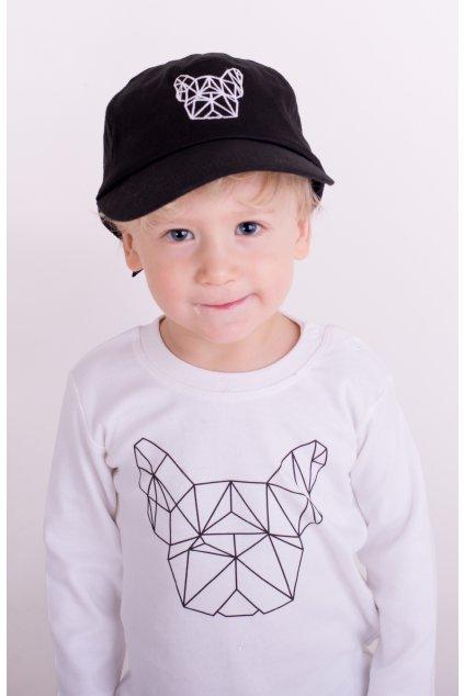 Dětská kšiltovka Geo černá