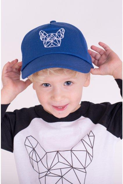 Dětská kšiltovka Geo modrá