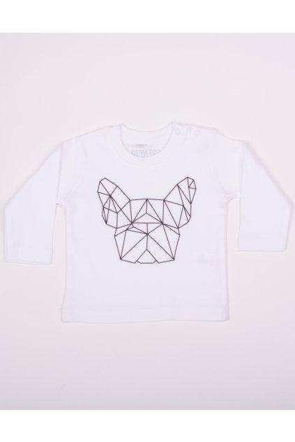 Dětské tričko bílé GeoFront