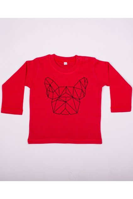 Dětské tričko červené GeoFront