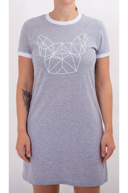 Dámské tričkové šaty šedé