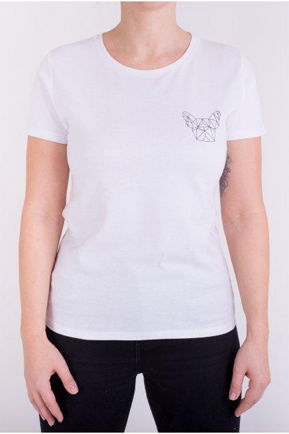 Dámské tričko bílé GeoSmall