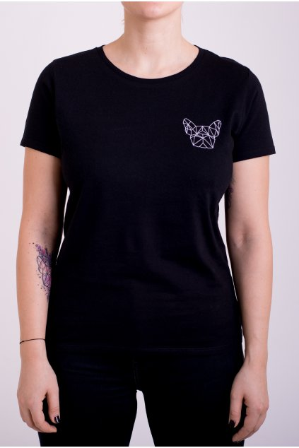 Dámské tričko černé GeoSmall