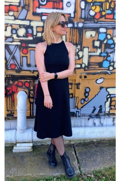 Dámské midi šaty CUTE černé