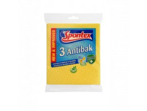 97042487 Spontex Antibak houbová utěrka 3ks