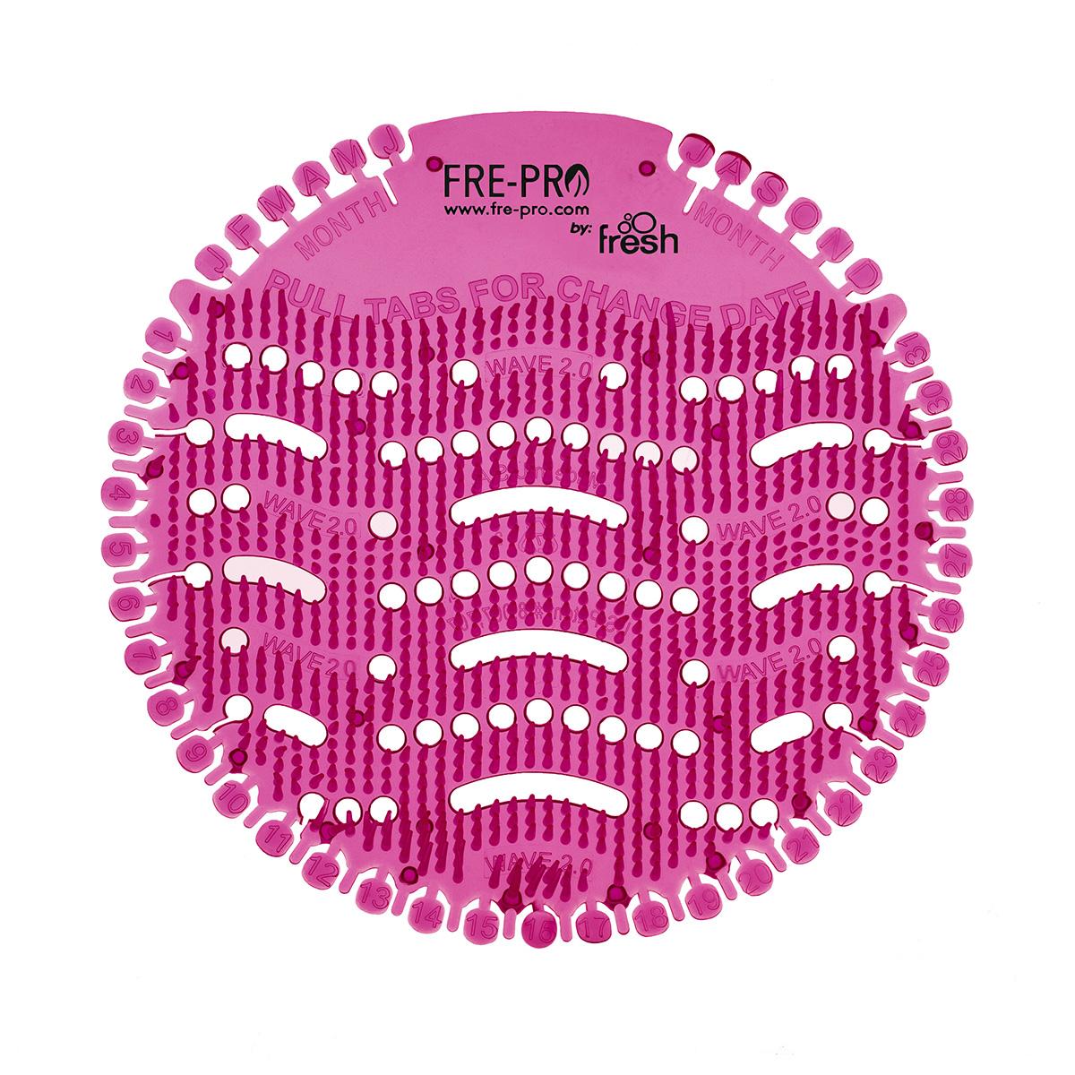 Fre Pro Pisoárové sítko WAVE 2.0 – 2 ks v balení Vůně: Bavlna (modrá)