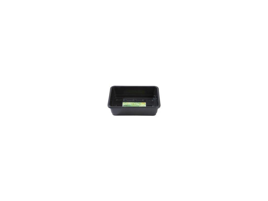 garden tray black rectangular 235x18x6cm