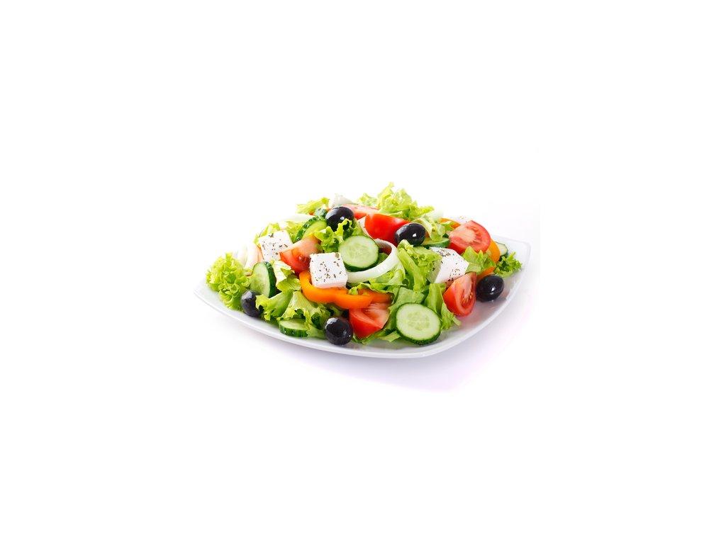 Zeleninový šalát s prosciuttom a feta syrom 300g.  Vhodný ako hlavné jedlo