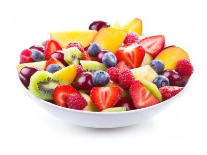Ovocný šalát s kanadskými čučoriedkami 300g.  S kúskami čerstvého ovocia