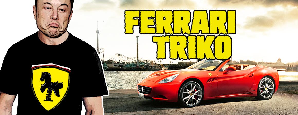 Pánské tričko Ferrari logo parodie