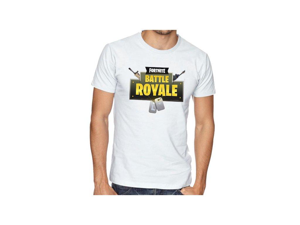 pánské bílé tričko fortnite battle royale