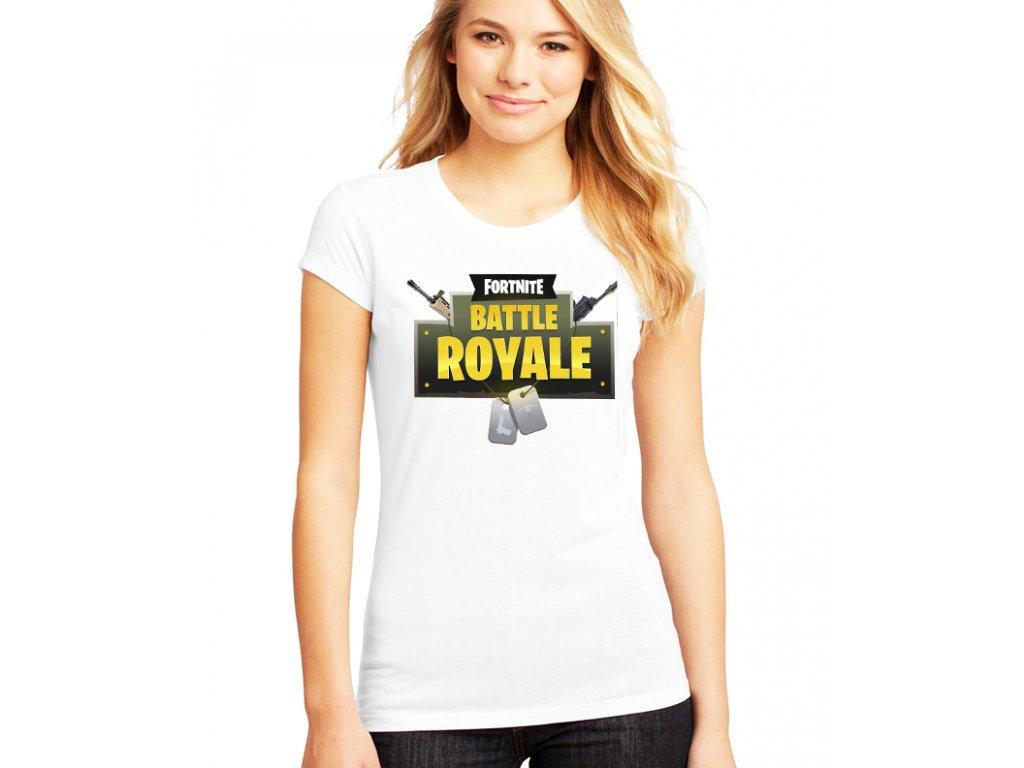 dámské bílé tričko fortnite battle royale