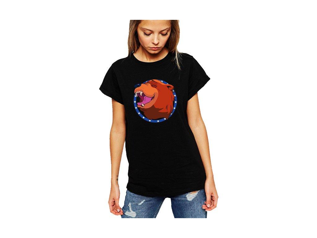 Dámské černé tričko Far Cry 5 medvěd