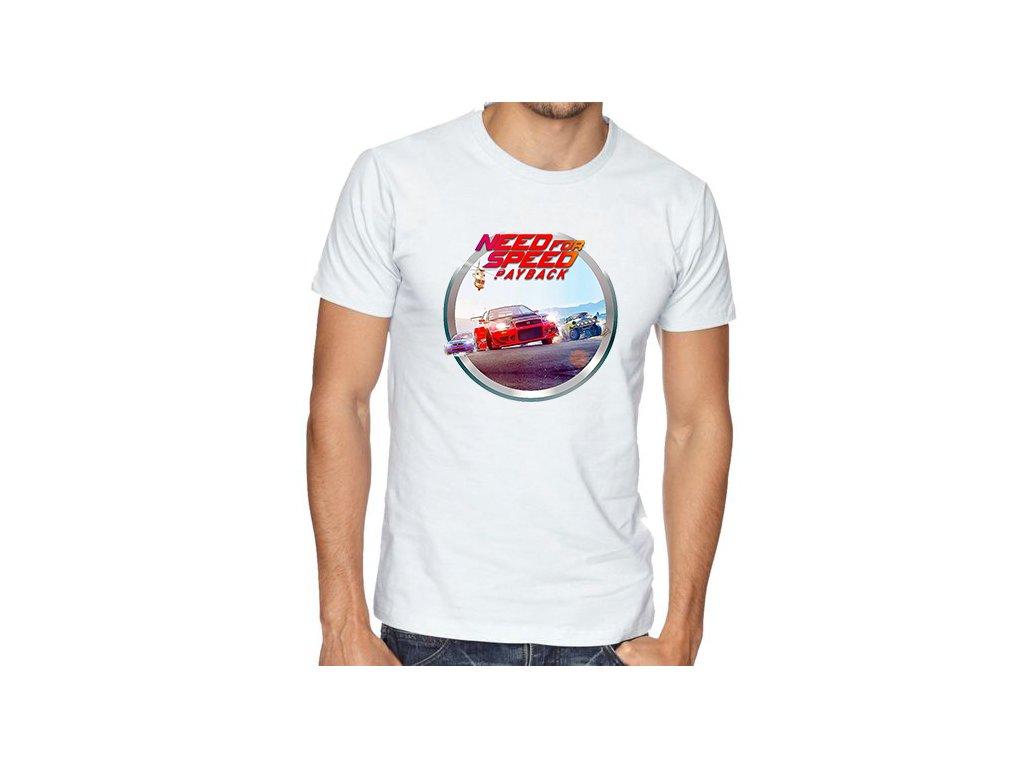 pánské bílé tričko need for speed payback