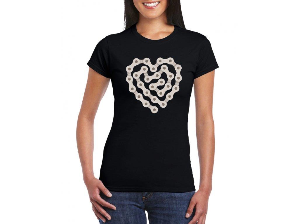 dámské černé tričko Miluji Cyklistiku
