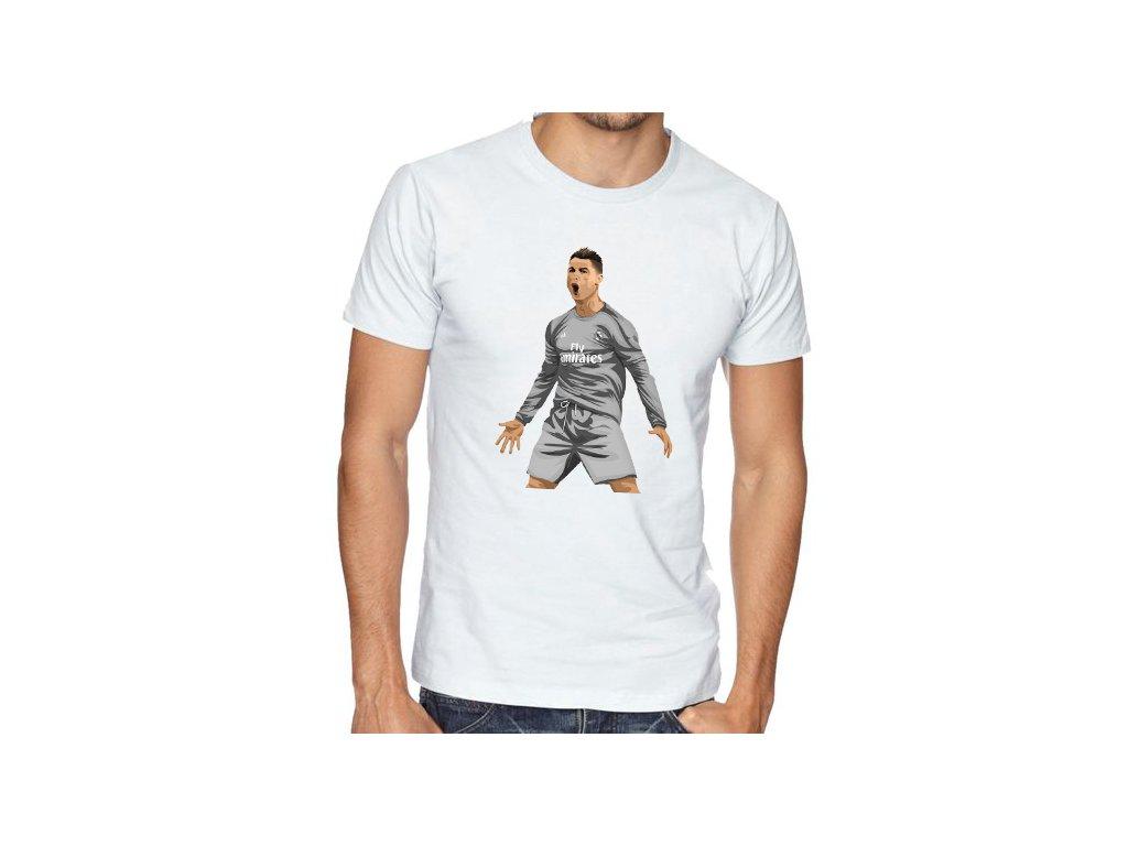 pánské bílé tričko cristiano ronaldo real madrid