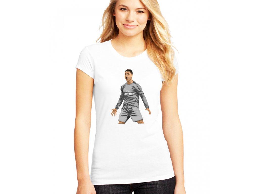 Dámské bílé tričko cristiano ronaldo real madrid