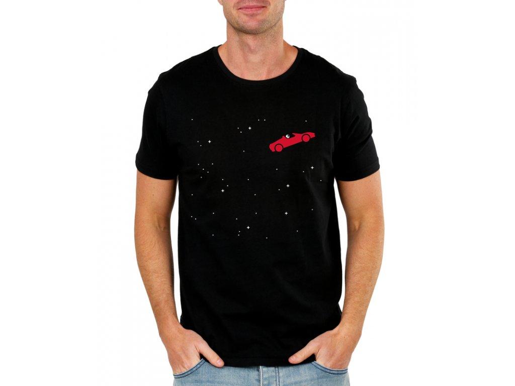Pánské tričko Roadster Elon Musk