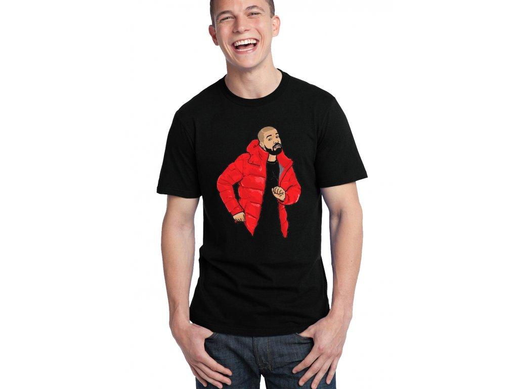 pánské černé tričko drake