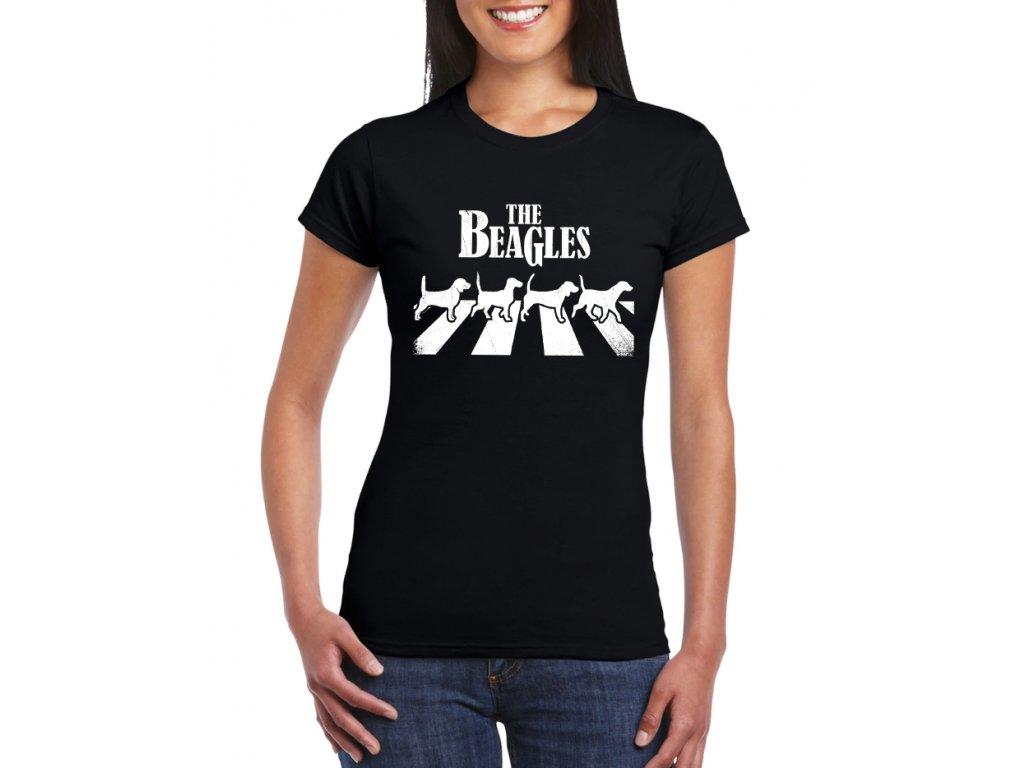 dámské černé tričko the beatles parodie