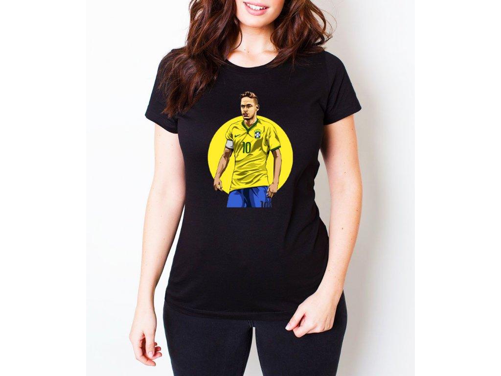 dámské černé tričko neymar brazílie