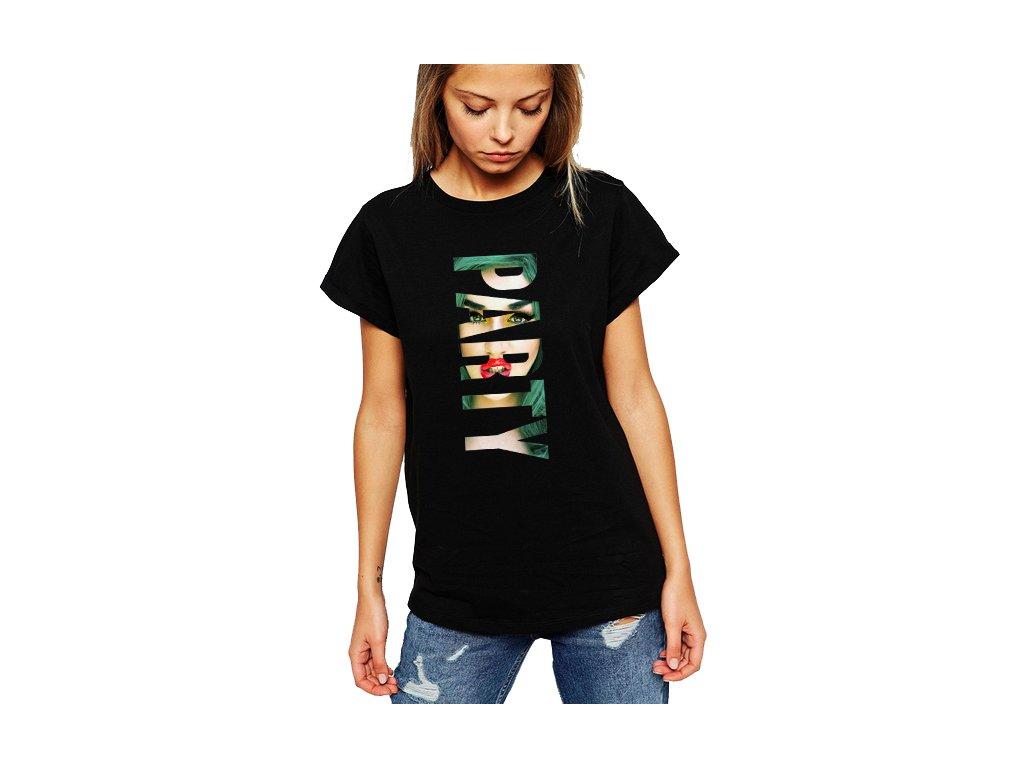 dámské černé tričko Party
