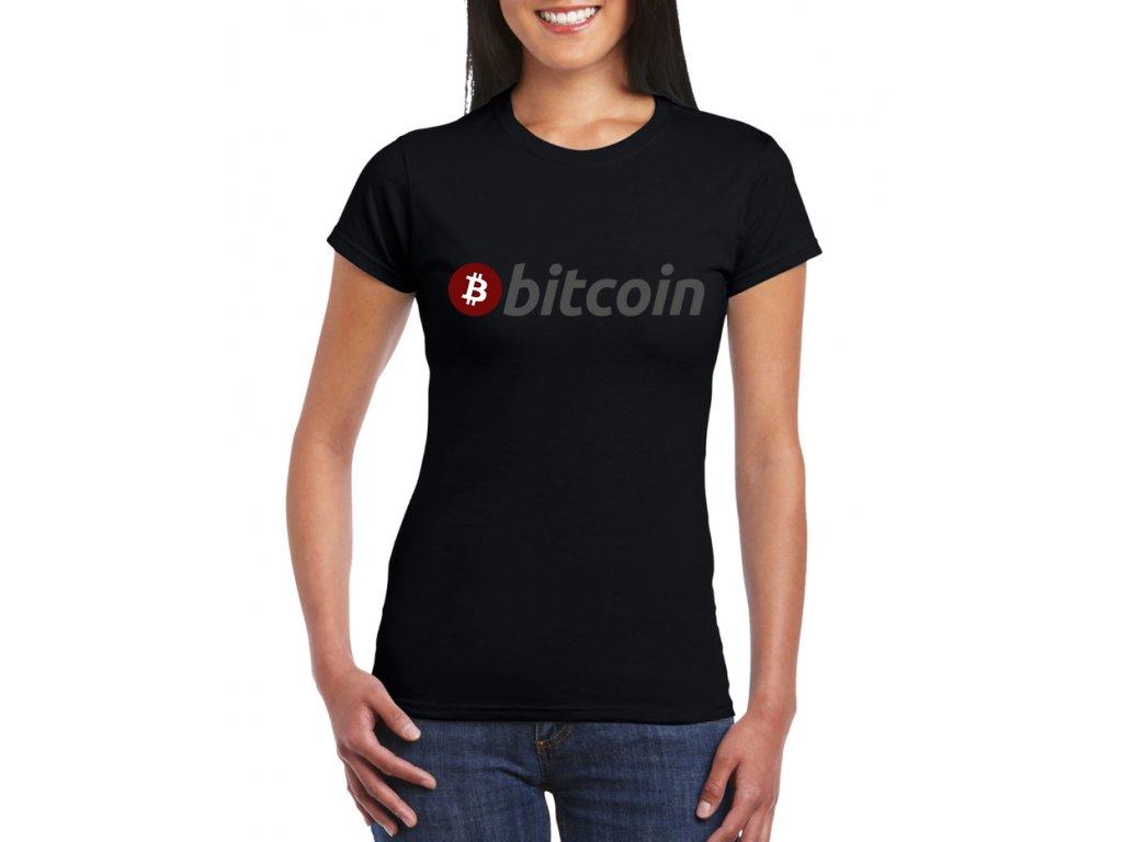 dámské černé tričko bitcoin
